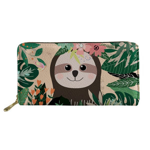 Hawaiian Sloth Purse / Wallet - Sloth Gift shop