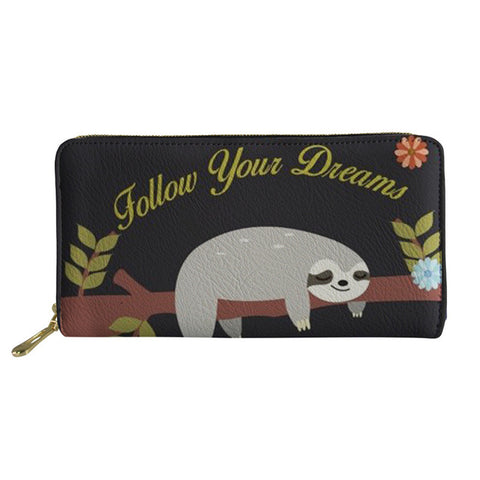 Image of Dreams Do Come True Sloth Purse / Wallet - Sloth Gift shop