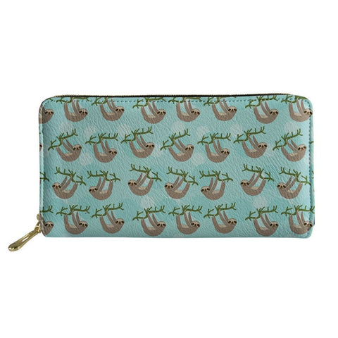 Image of Sky Blue Sloth Purse / Wallet - Sloth Gift shop