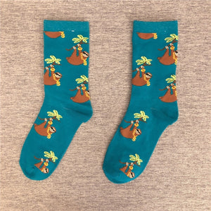 Orange Sloth Socks