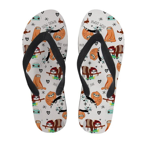Happy Holiday Sloth Sandal