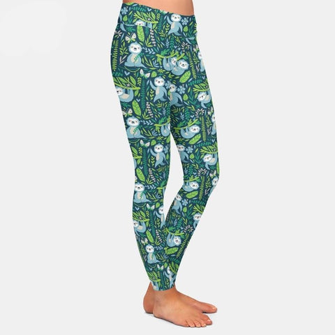 Greeny Sloth Leggings - Sloth Gift shop