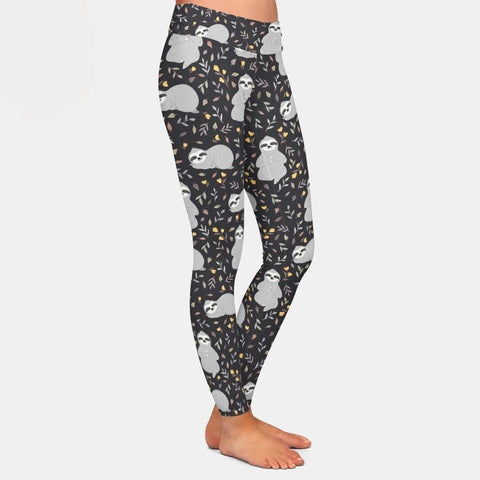 Image of Greyish Sloth Leggings - Sloth Gift shop
