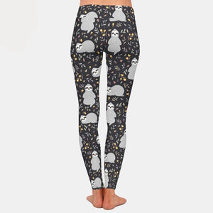Greyish Sloth Leggings - Sloth Gift shop