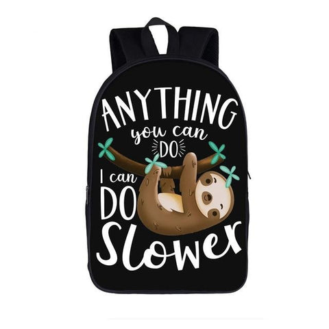 Slower Sloth Travel Backpack - Sloth Gift shop