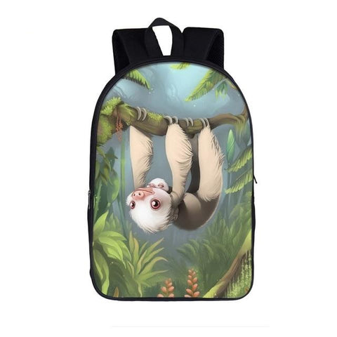 Slim Sloth Travel Backpack - Sloth Gift shop