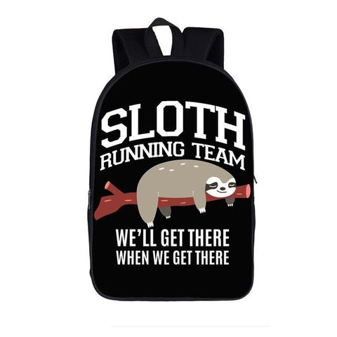 Image of Sloth Running Team Travel Backpack - Sloth Gift shop