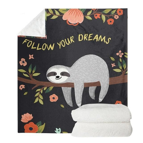 Follow your Sloth Dreams Blanket - Sloth Gift shop
