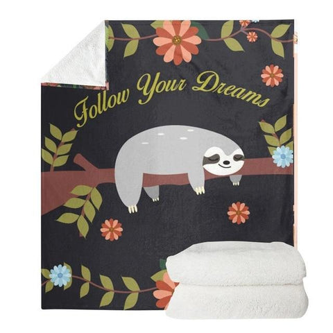 Dreamy Sloth Blanket - Sloth Gift shop