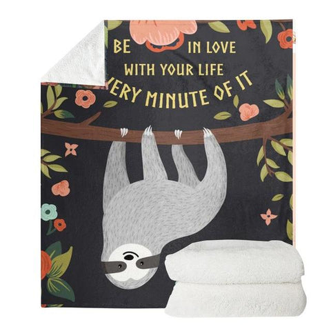 Every Minute Sloth of it Blanket - Sloth Gift shop