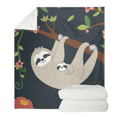 Mother Sloth Love Blanket - Sloth Gift shop