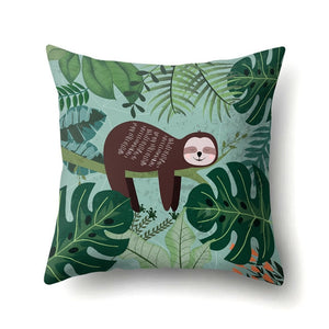 Close your Eyes Sloth Cushion Cover - Sloth Gift shop