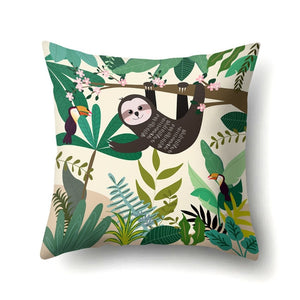 Saying Hi Sloth Cushion Cover - Sloth Gift shop