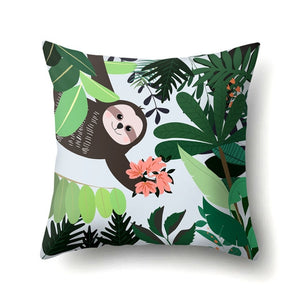 Flower for You Sloth Cushion Cover - Sloth Gift shop