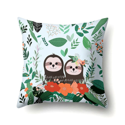 Lovers Sloth Cushion Cover - Sloth Gift shop