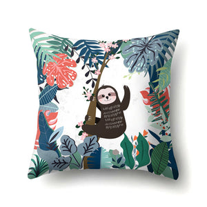 Hey Sloth Cushion Cover - Sloth Gift shop