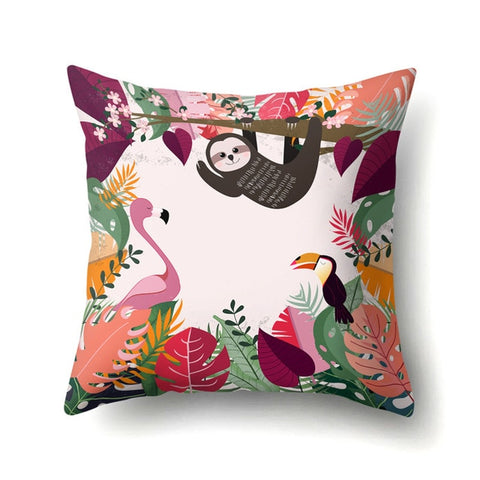 Pinky Sloth Cushion Cover - Sloth Gift shop