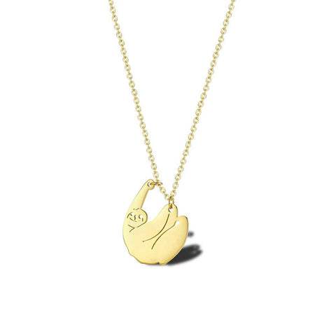 Image of Dangling Hanging Sloth Necklace - Sloth Gift shop