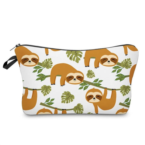 Hang in There Sloth Makeup Bag