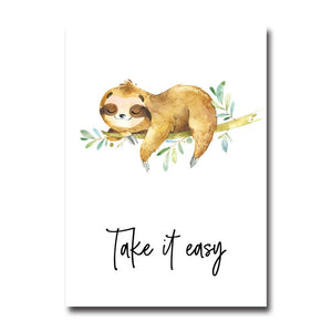 Easy Sloth Poster - Sloth Gift shop