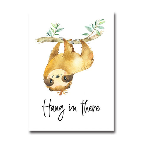 Sloth Hang in There Poster