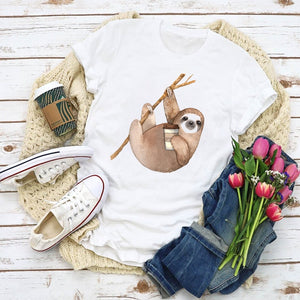 Coffee Time T-shirt - Sloth Gift shop