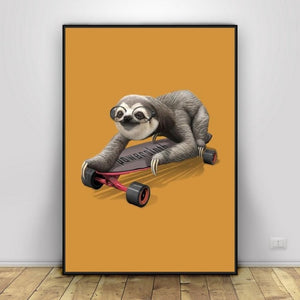 Power Sloth Poster - Sloth Gift shop