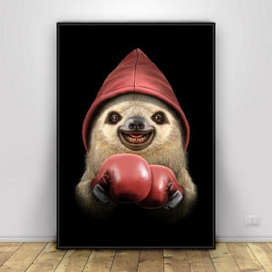 Mr. Sloth Boxer Poster - Sloth Gift shop