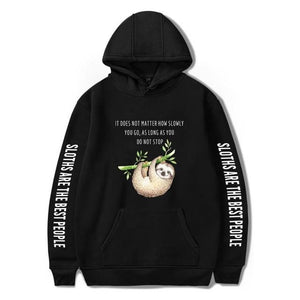 Motivation Quote Sloth Hoodie - Sloth Gift shop
