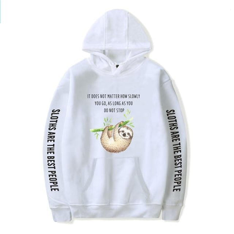 Image of Motivation Quote Sloth Hoodie - Sloth Gift shop
