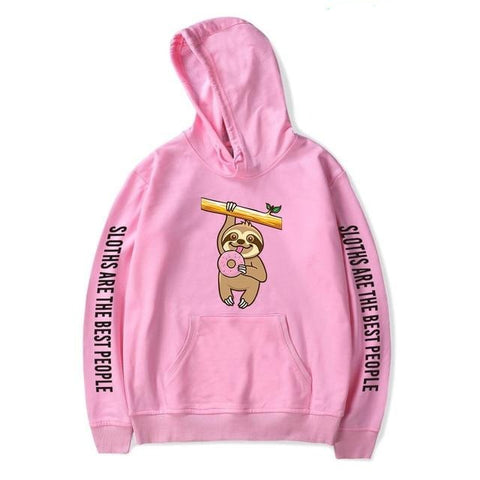 Hold On Donut Hoodie - Sloth Gift shop