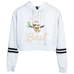 All The Best Cropped Pullover - Sloth Gift shop
