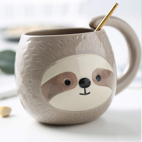 Image of Sloth Closed Eye Mug - Sloth Gift shop
