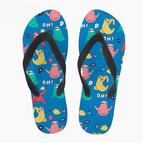 Image of Colourful Sloth Sandals - Sloth Gift shop