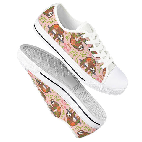 Sloth Floral Shoes - Sloth Gift shop