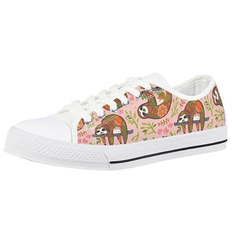 Image of Sloth Floral Shoes - Sloth Gift shop