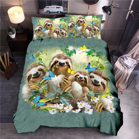 Family Sloth Bedding Set