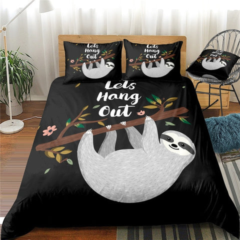Lets Hang Out Sloth Bedding Set - Sloth Gift shop
