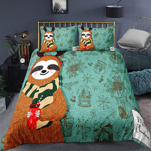 Sloth the Reindeer Bedding Set - Sloth Gift shop