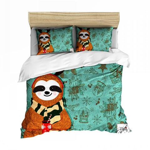 Image of Sloth the Reindeer Bedding Set - Sloth Gift shop