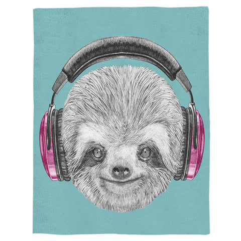 Image of Dj Sloth Blanket - Sloth Gift shop
