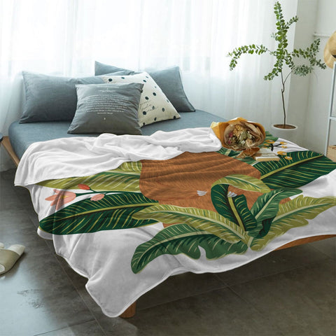 Image of Queen of the Leaves Sloth Blanket - Sloth Gift shop