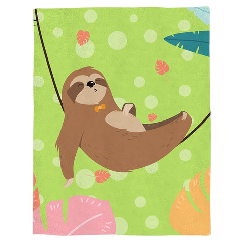 Image of Resting Sloth Blanket - Sloth Gift shop