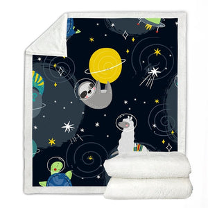 Sloth at Space Blanket - Sloth Gift shop
