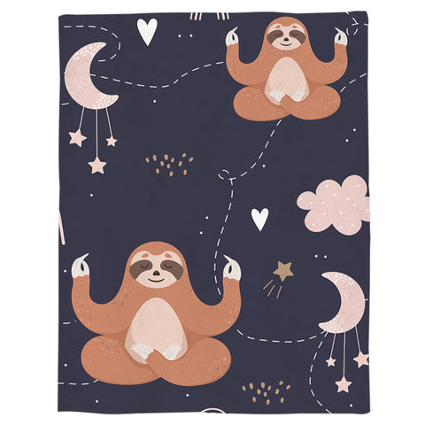 Image of Meditator Sloth Blanket - Sloth Gift shop
