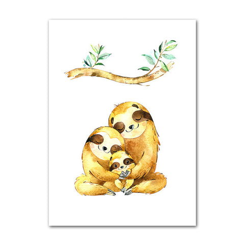 Family Sloth Love Poster