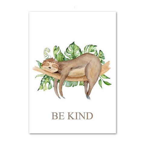 Sleepy Head Sloth Poster - Sloth Gift shop