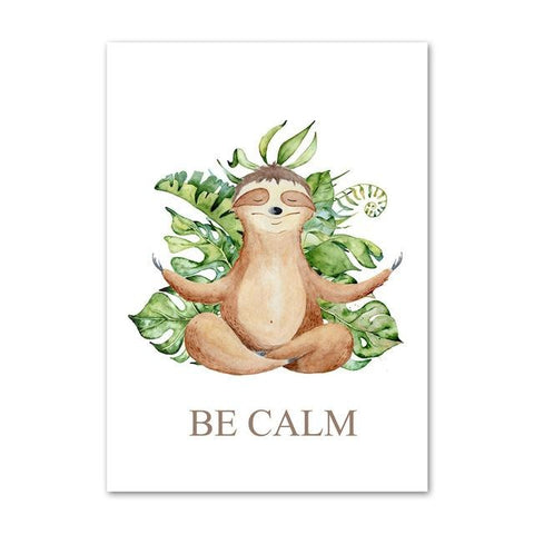 Yoga Sloth Pose Poster - Sloth Gift shop