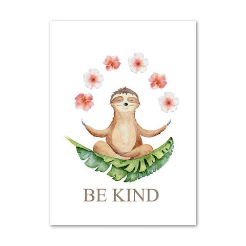 Be Sloth Kind Poster - Sloth Gift shop