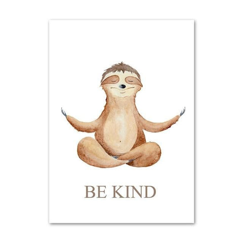 Hands Up Sloth Poster - Sloth Gift shop